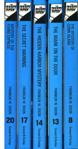 Examples of spines from laminated (flashlight) editions