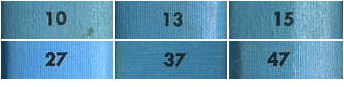 Examples of spine numbers set in Futura