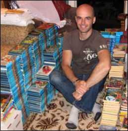 Photo of Will with books